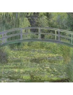 Tytuł: Japoński mostek, lilie wodne, Autor: Claude Monet