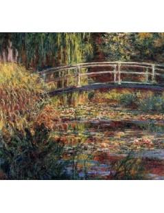 Tytuł: Japoński mostek, symfonia różowa, Autor: Claude Monet