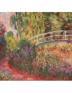Tytuł: Japoński mostek, irysy wodne, Autor: Claude Monet