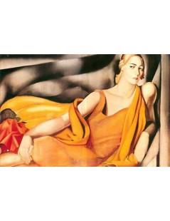 Tytuł: Kobieta w żółci, Autor: Tamara de Lempicka