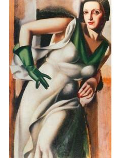 Tytuł: Pani w zielonych rękawiczkach, Autor: Tamara de Lempicka