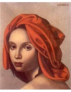 Tytuł: Pomarańczowy turban, Autor: Tamara de Lempicka