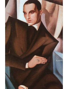 Tytuł: Portret markiza Sommi Picenardi, Autor: Tamara de Lempicka