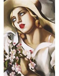 Tytuł: Portret młodej dziewczyny, Autor: Tamara de Lempicka