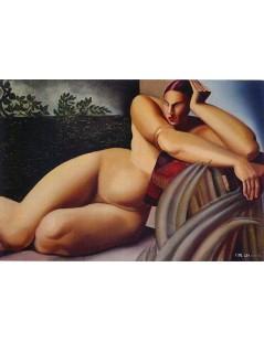 Tytuł: Leżąca naga kobieta, Autor: Tamara de Lempicka