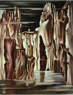 Tytuł: Surrealistyczny krajobraz, Autor: Tamara de Lempicka