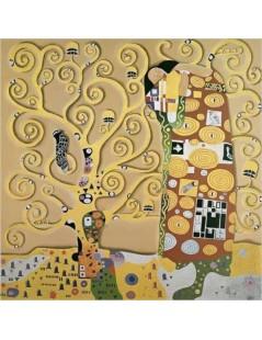 Tytuł: Spełnienie - fr. fresku, Autor: Gustav Klimt
