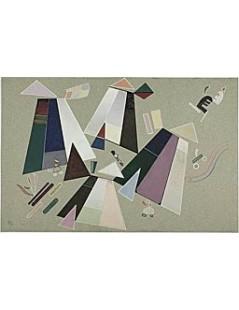 Tytuł: Untitled (Composition with Grey Background), Autor: Wassily Kandinsky