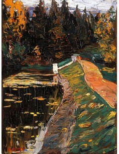 Tytuł: Study for sluice, Autor: Wassily Kandinsky