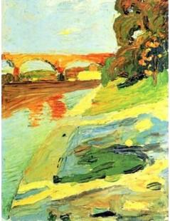 Tytuł: The Isar near Grosshessolohe, Autor: Wassily Kandinsky