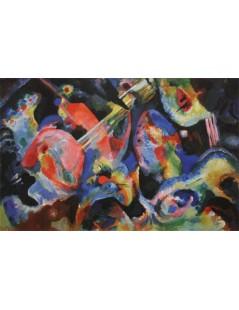 Tytuł: Improvisation. Deluge, Autor: Wassily Kandinsky