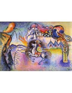 Tytuł: Rider. St. George, Autor: Wassily Kandinsky