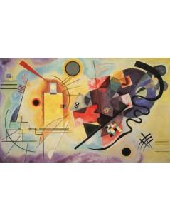 Tytuł: Kompozycja Żółty - czerwony - niebieski, Autor: Wassily Kandinsky