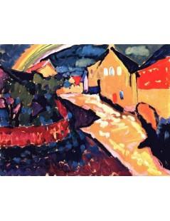 Tytuł: Murnau with rainbow, Autor: Wassily Kandinsky