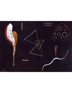 Tytuł: Three triangles, Autor: Wassily Kandinsky