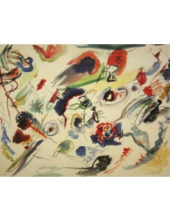 Tytuł: Untitled (First Abstract Watercolor), Autor: Wassily Kandinsky