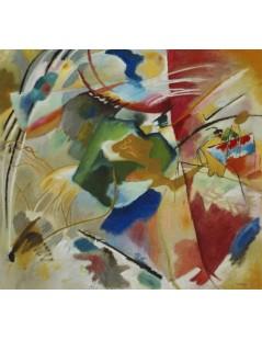 Tytuł: Obraz z zielonym centrum, Autor: Wassily Kandinsky