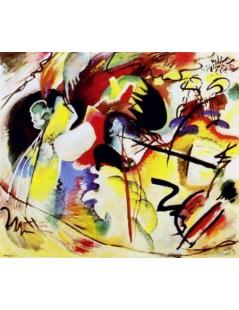 Tytuł: Obraz z białym kształtem, Autor: Wassily Kandinsky