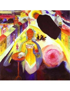 Tytuł: Dama w Moskwie, Autor: Wassily Kandinsky