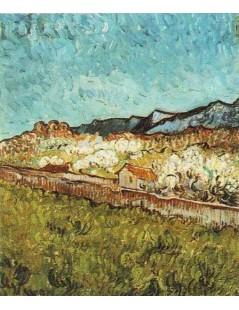 Tytuł: U podnóża gór, Autor: Vincent van Gogh
