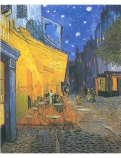 Tytuł: Taras kawiarni w Arles nocą, Autor: Vincent van Gogh