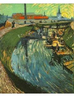 Tytuł: Piorące kobiety, Autor: Vincent van Gogh