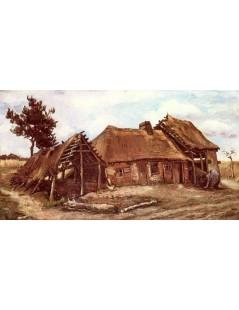 Chata z nachyloną kobietą