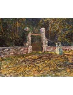 Tytuł: Wejście do parku w Asnieres, Autor: Vincent van Gogh