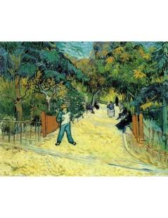 Tytuł: Wejście do parku publicznego w Arles, Autor: Vincent van Gogh