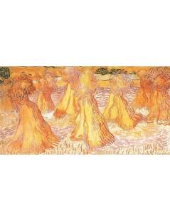 Tytuł: Stogi pszenicy na polu, Autor: Vincent van Gogh