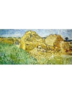 Tytuł: Stogi pszenicy, Autor: Vincent van Gogh