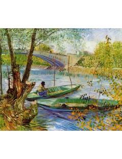 Tytuł: Wiosenne wędkowanie, Autor: Vincent van Gogh