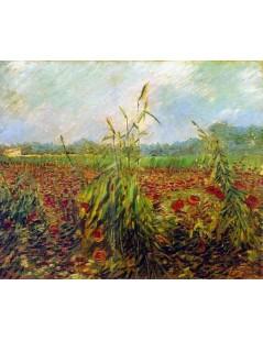 Tytuł: Zielone kłosy pszenicy, Autor: Vincent van Gogh