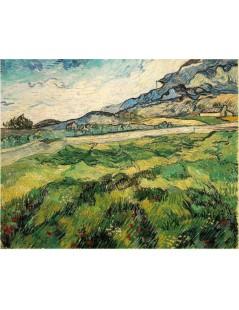 Tytuł: Zielone pole pszenicy, Autor: Vincent van Gogh