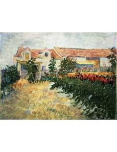 Dom ze słonecznikami