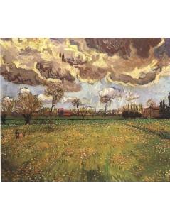 Pejzaż z burzowym niebem