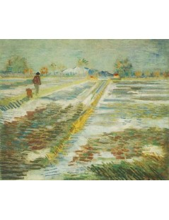 Pejzaż ze śniegiem