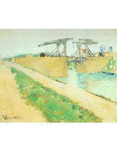Most zwodzony w Arles z drogą wzdłuż kanału