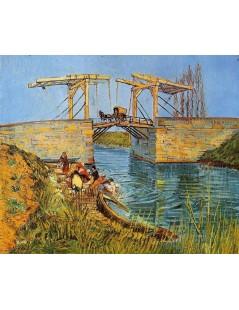 Most zwodzony w Arles z piorącymi kobietami