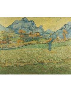 Tytuł: Łąka w górach Le Mamy de Saint-Paul, Autor: Vincent van Gogh