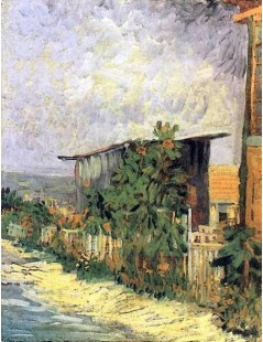Dróżka ze słonecznikami na Montmartre