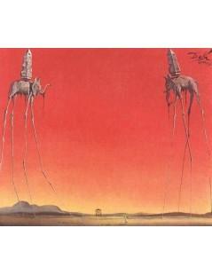 Tytuł: Słonie w czerwieni, Autor: Salvador Dali