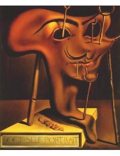 Tytuł: Miękki autoportret z plasterkiem pieczonego boczku, Autor: Salvador Dali