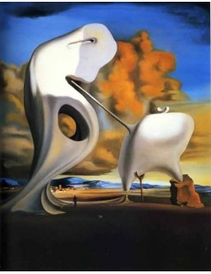 Tytuł: The Architectonic Angelus of Millet, Autor: Salvador Dali