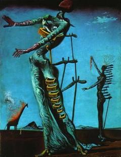 Tytuł: Płonąca żyrafa, Autor: Salvador Dali