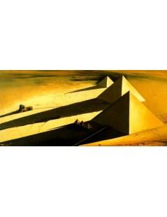 Tytuł: Piramidy i Sfinks w Gizie, Autor: Salvador Dali