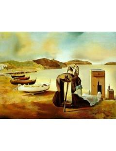 Tytuł: Łodzie na brzegu piaszczystej pustyni, Autor: Salvador Dali