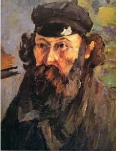 Tytuł: Autoportret w czapce, Autor: Paul Cezanne