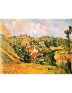 Tytuł: Auvers od strony Val Harme, Autor: Paul Cezanne