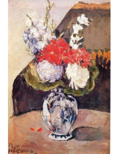 Tytuł: Bukiet kwiatów w wazonie z Delft, Autor: Paul Cezanne